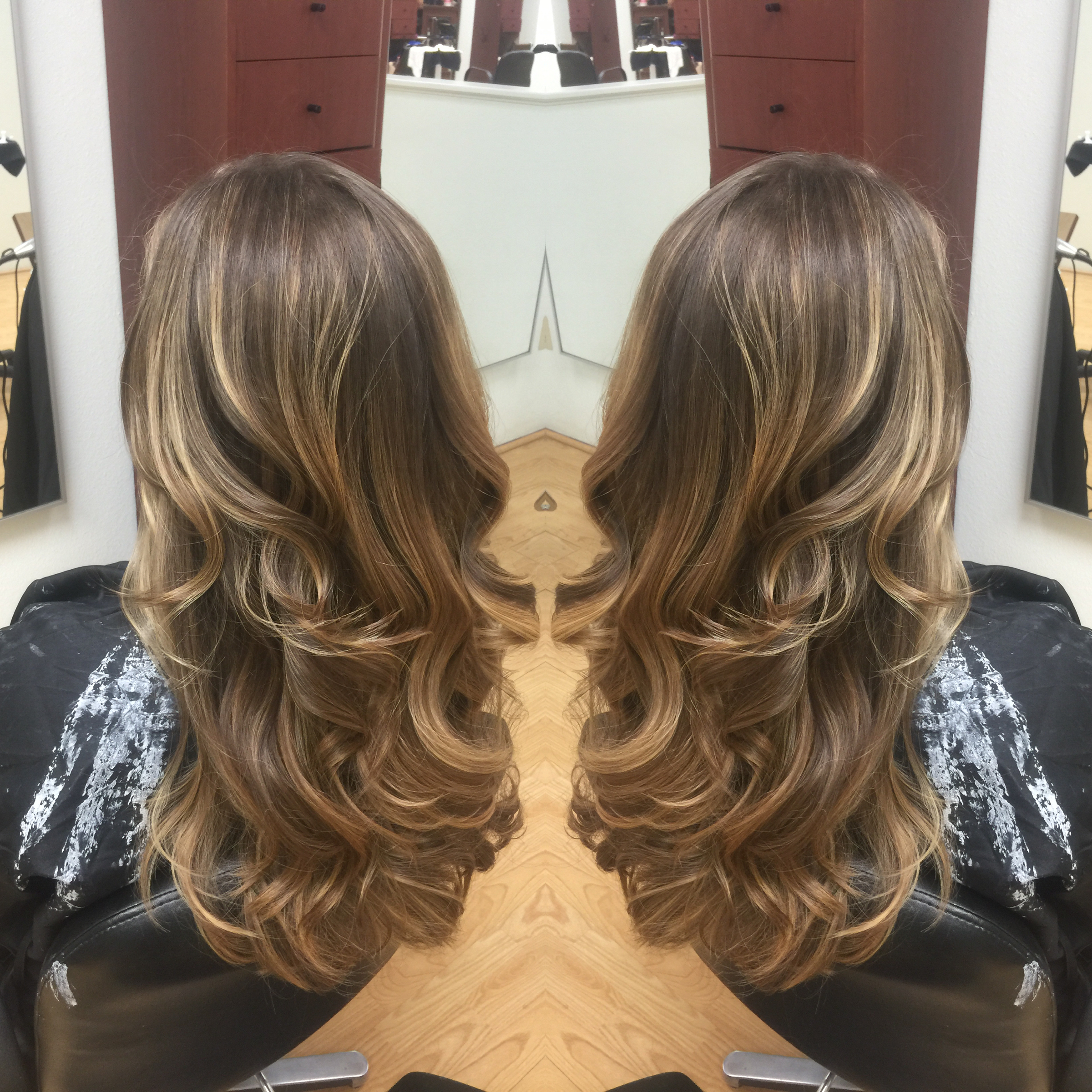 Newport Beach Hair Stylist Natural Long Dark Ash Blonde Hair To